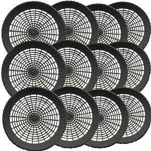 "Budays Mart: Pack of 12- 9"" Reusable Black Plastic Paper Plate Holder"