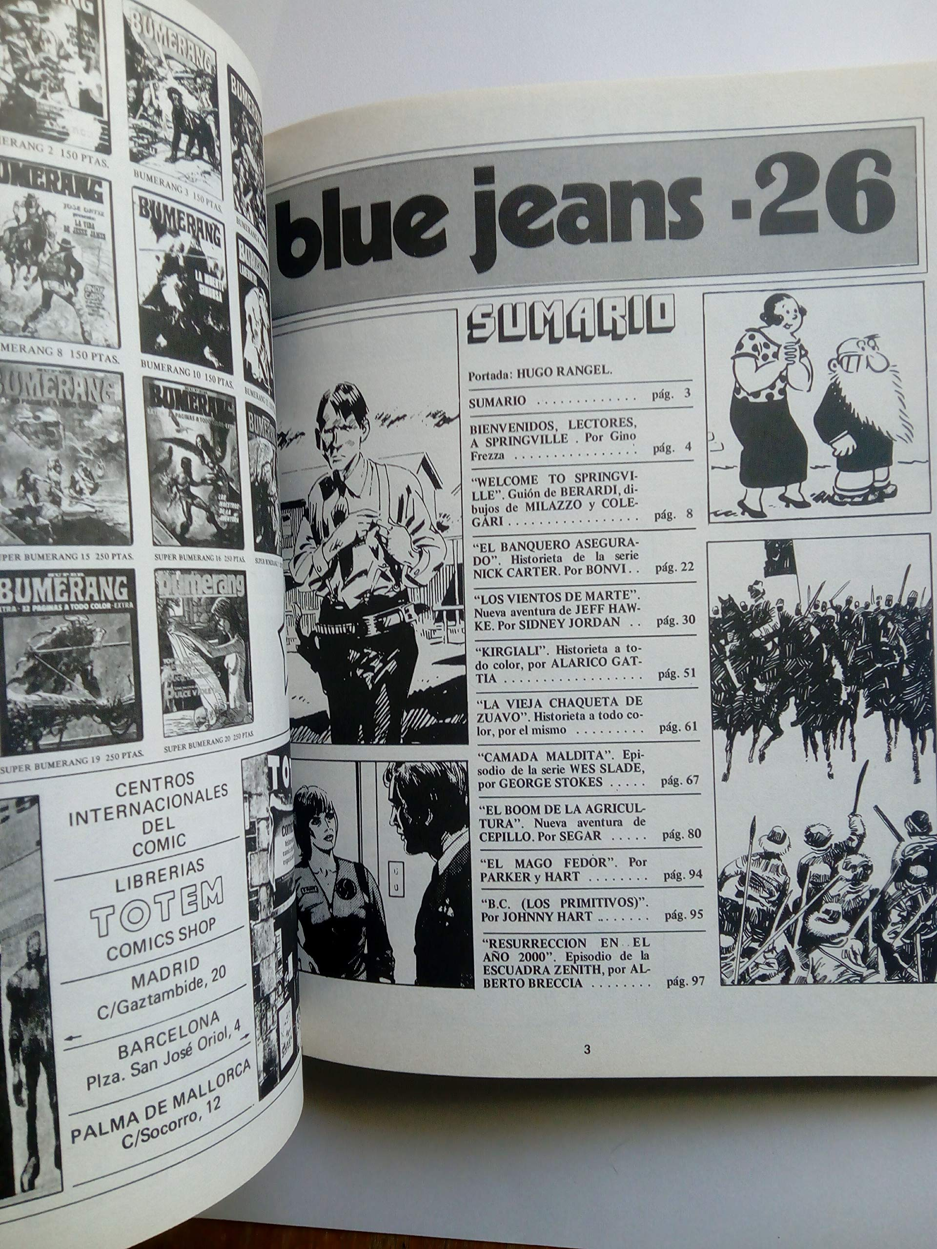 BLUE JEANS. ANTOLOGIA, 2. N. 24-26.: REVISTA.: Amazon.com: Books