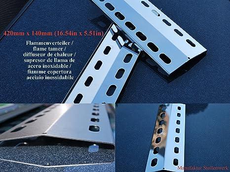 420mm x 140mm Repuesto para parrilla de acero inoxidable ...