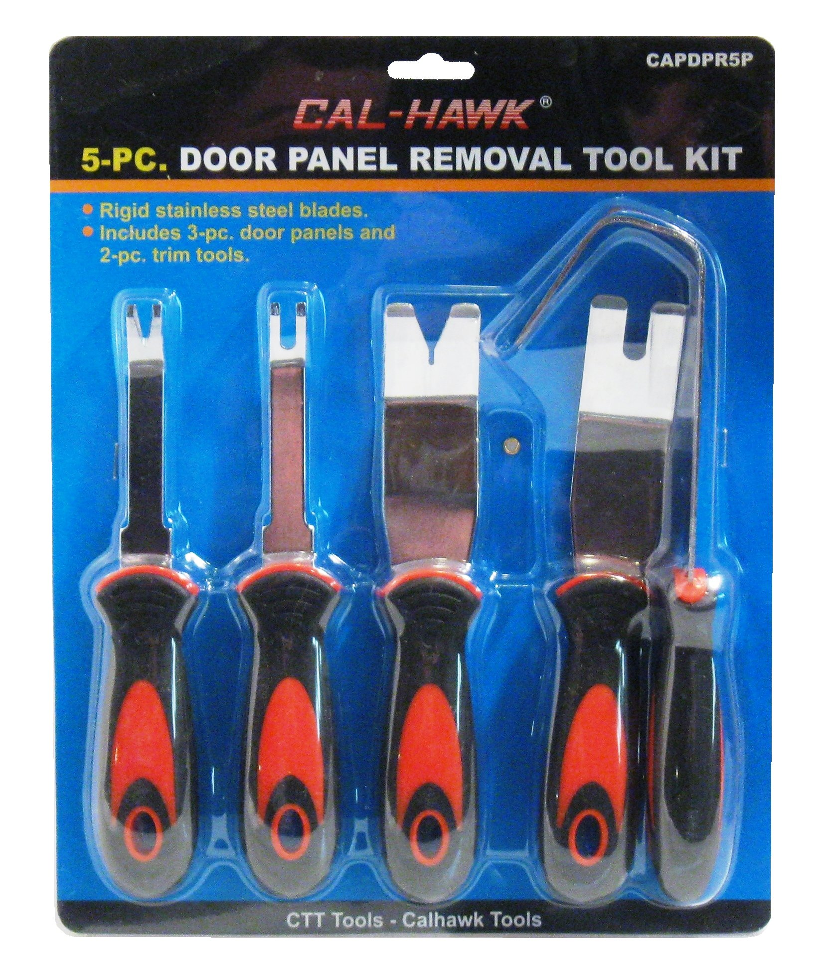5Pc Stainless Steel Auto Trim Door Panel Molding Removal Tool Kit by ctt tool (Image #2)