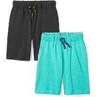 Marca Amazon - Spotted Zebra – Pantalones cortos de punto para niño (2 unidades)