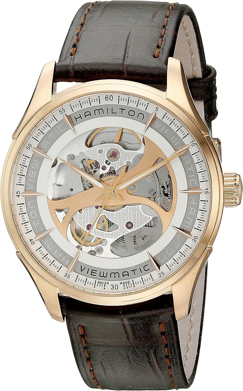 Hamilton Men s H42545551 Jazzmaster Analog Display Automatic Self Wind Brown Watch