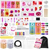 Resin Molds Kit for Jewelry Making, 270 Pcs Epoxy Resin Supplies for Beginners with Silicone Molds, Epoxy Resin, Dried Flower