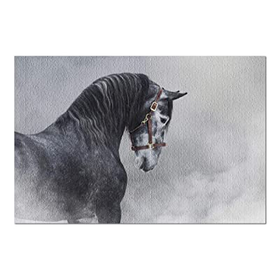Purebred Spanish Horse in Smoke 9002773 (Premium 1000 Piece Jigsaw Puzzle for Adults, 20x30, Made in USA!): Toys & Games