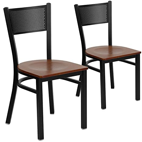 Amazon.com: Flash Muebles 2 Pk. Hercules Series Negro Grid ...