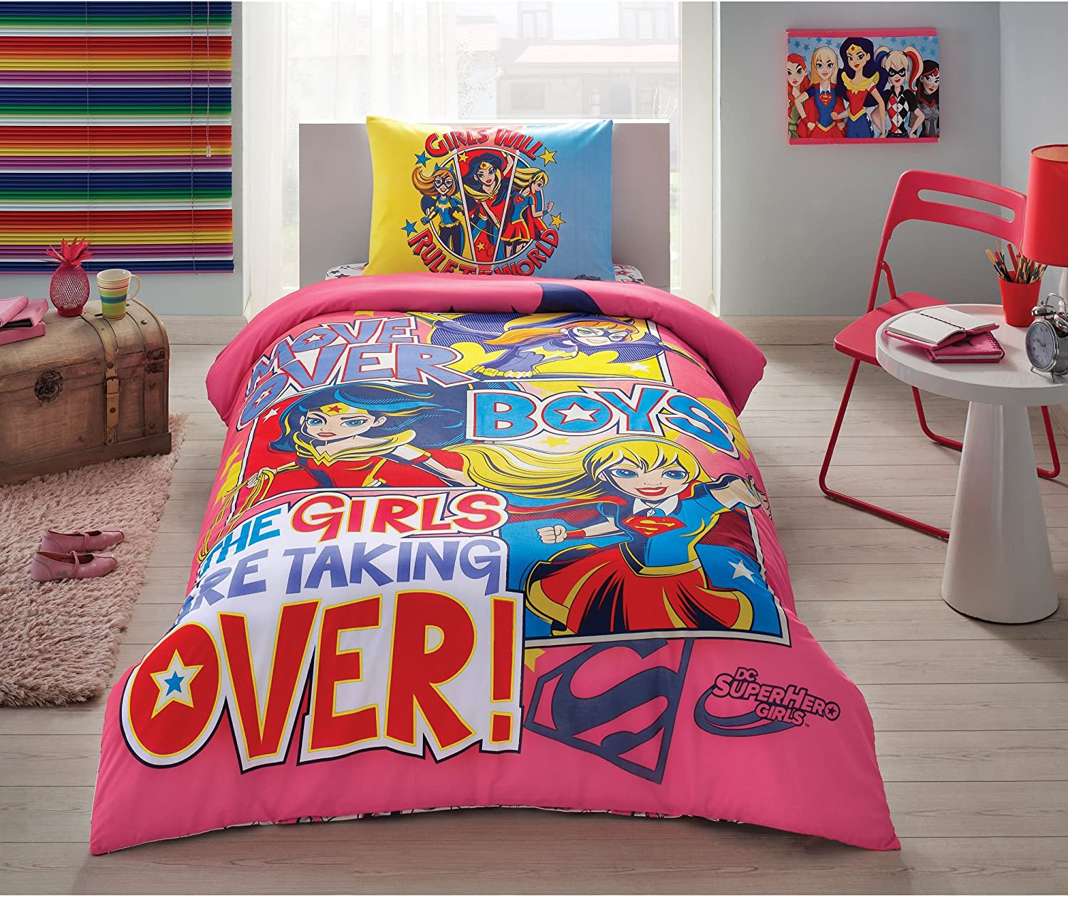 TAC Super Hero Girls Duvet Cover Set Licenced Product…