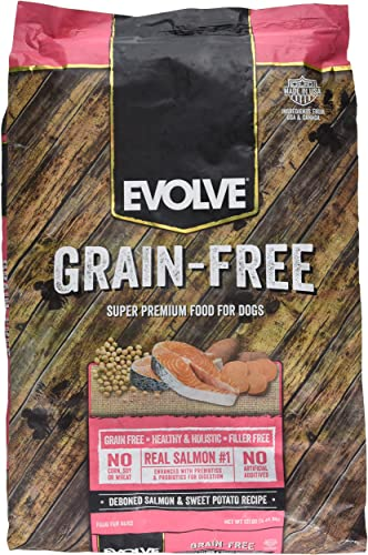 Evolve Super Premium Grain Free Dog Food Diets Deboned Salmon Sweet Potato