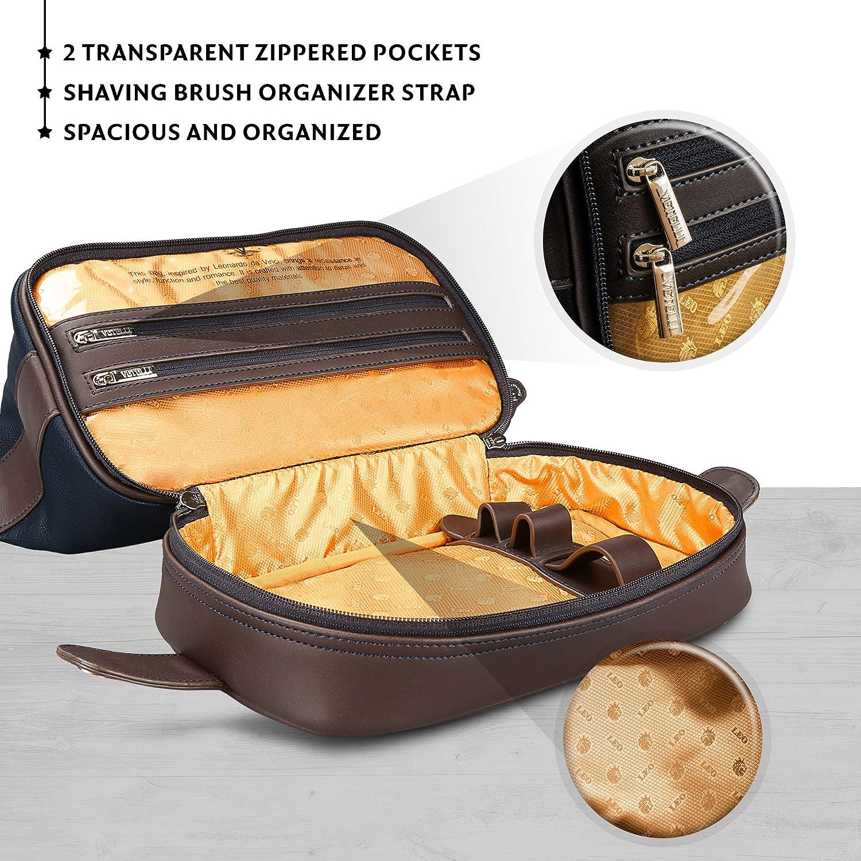 ... info for 99a91 4da14 Vetelli Leo Leather Toilet Wash Bag for Men -  Handmade Toiletry Bag ... 80c2fa9b8c