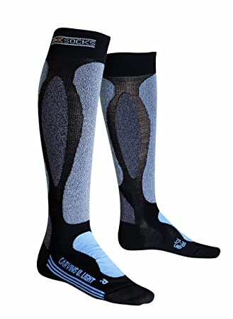 X-Socks Carving Ultralight Lady - Calcetines para mujer, color negro-azul negro