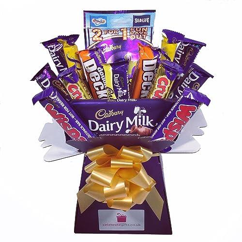Cadbury Variety Chocolate Bouquet - Sweet Hamper Tree - Perfect Gift
