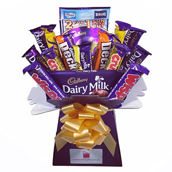 e3fbe498a345 Cadbury Variety Chocolate Bouquet - Sweet Hamper Tree - Perfect Gift   Amazon.co.uk  Grocery