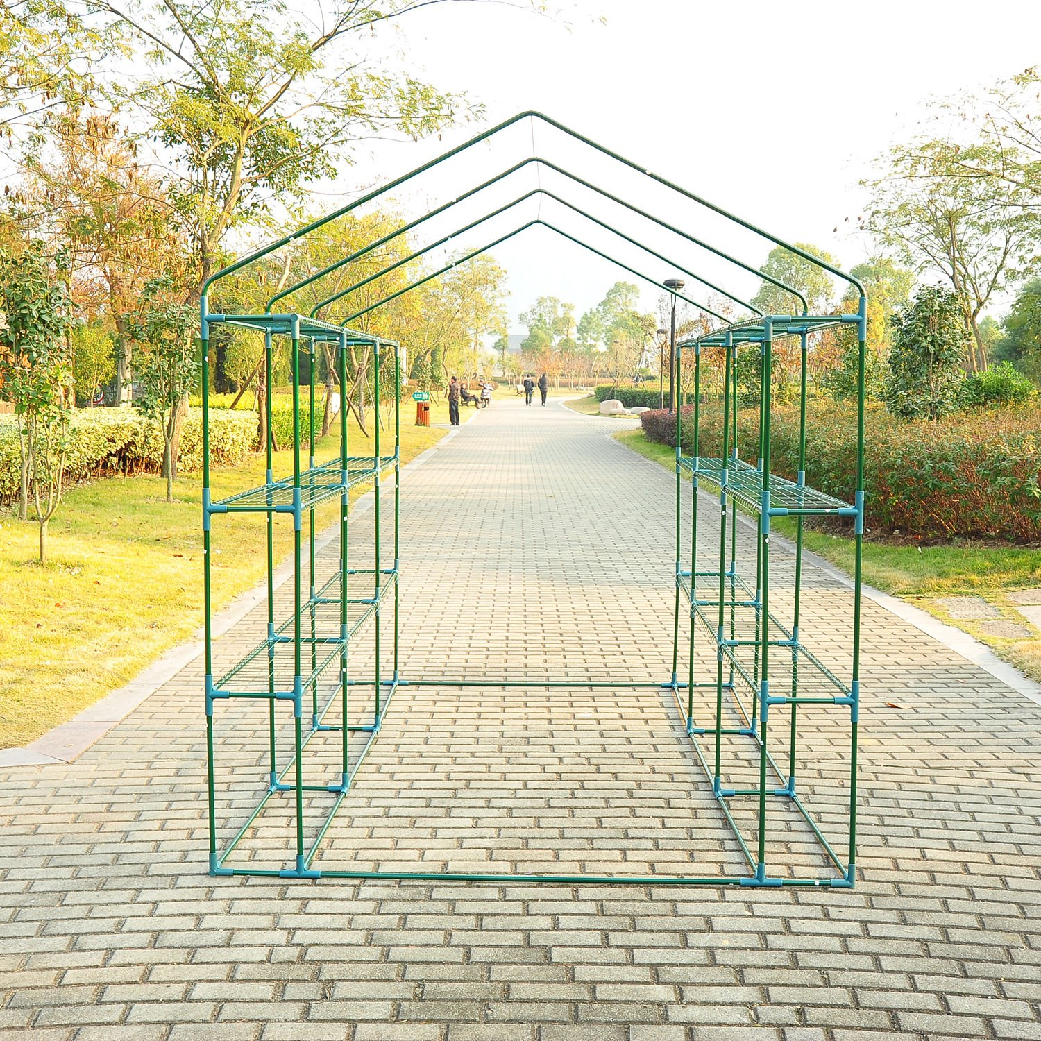 Outsunny 8' x 6' x 7' Outdoor Portable Walk-in Greenhouse by Outsunny (Image #6)