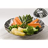Steamer Basket Stainless Steel Vegetable Folding Collapsible Insert for Various Size Pots by Delightful Chef