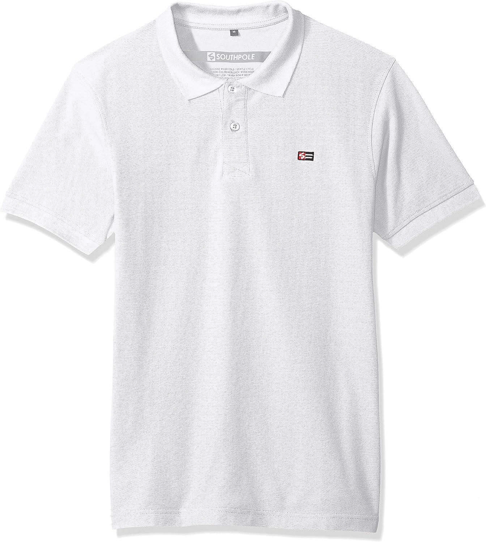 Southpole Mens Classic Short Sleeve Solid Polo Shirt Polo Shirt