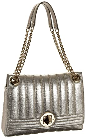 75142db1be Amazon.com  Kate Spade Gold Coast Metallic Evangeline Shoulder Bag ...