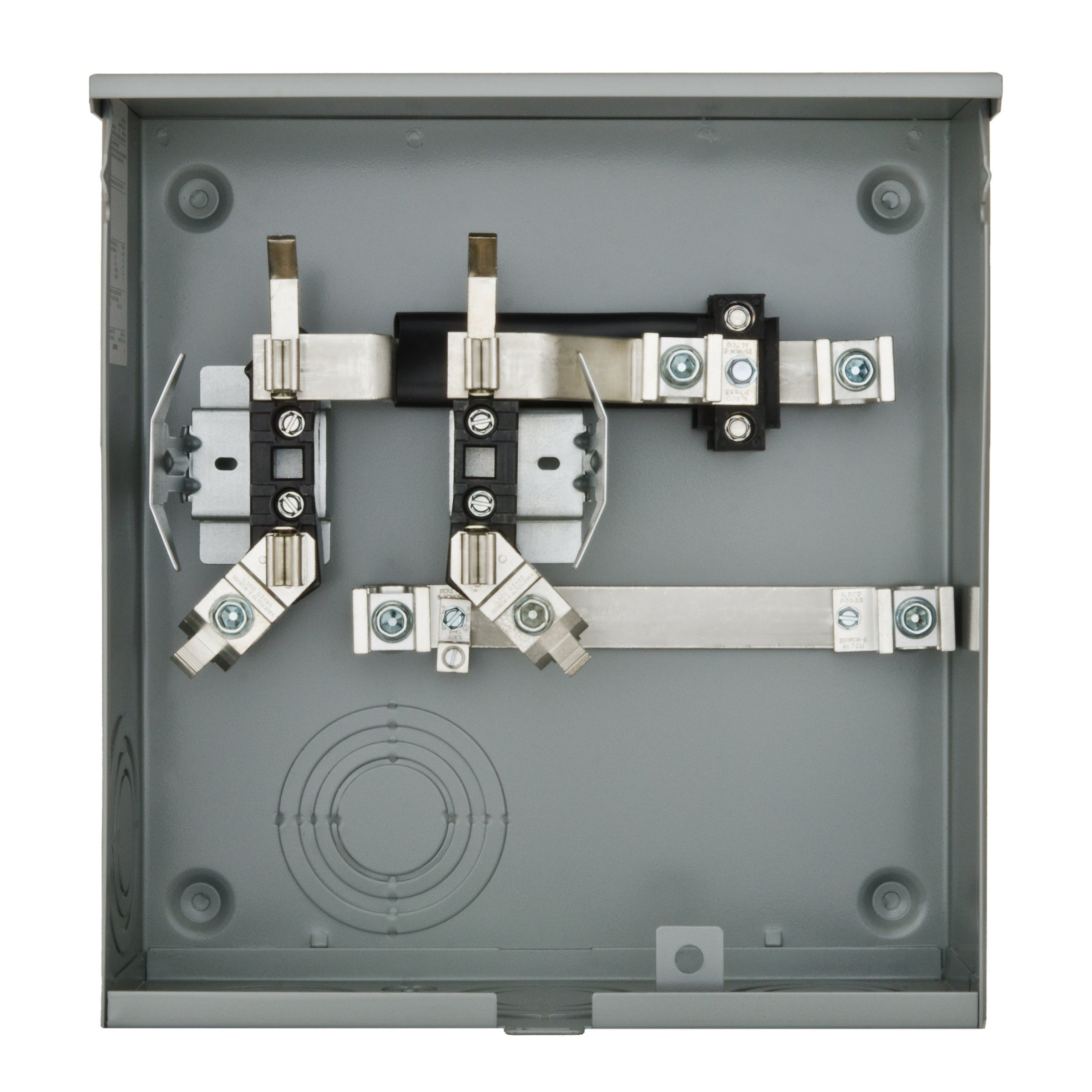 Siemens SUAS817-PPGP 200-Amp, 4 Jaw, Ringless Cover, Horn Bypass, Underground Feed, Side Wired, 7/8 Barrell Lock, Meter Socket