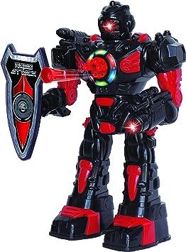 ThinkGizmos Robot programable Grande con Mando a Distancia – Robot de Juguete con Control Remoto – Robots para niños Que disparan misiles Hablan andan y Bailan niños (Negro): Amazon.es: Juguetes y juegos