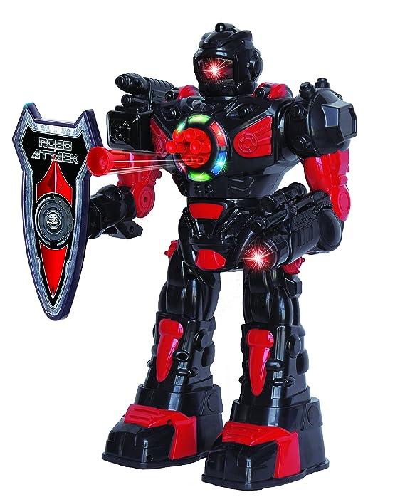ThinkGizmos Ferngesteuerter Roboter für Kinder – Hervorragender, unterhaltsamer Spielzeugroboter – Tanzt, schießt weiche Pfei