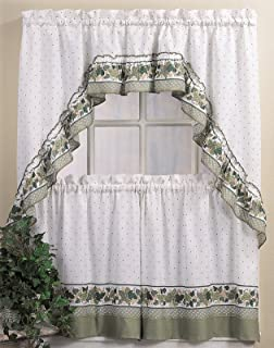 CHF U0026 You Cottage Ivy Country Curtain Tier And Swag Set, Multi, 56