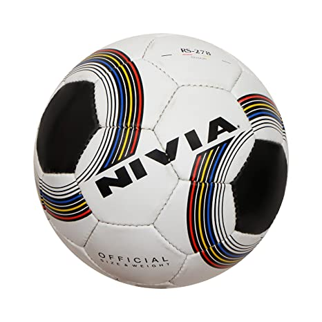 695bf8421 Buy Nivia Football (Black and White) Online at Low Prices in India -  Amazon.in