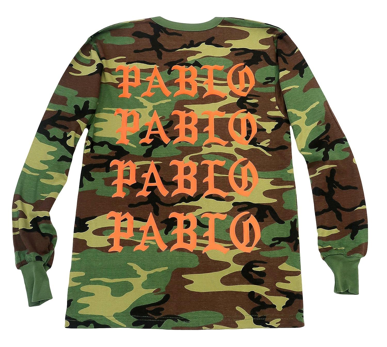 2a3c058680c4c5 Amazon.com  The Life Of Pablo I Feel Like Pablo Long Sleeve Camo (Orange  Print)  Clothing