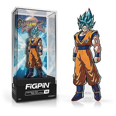 FiGPiN Dragon Ball FighterZ: Super Saiyan God Super Saiyan Goku - Collectible Pin with Premium Display Case: Video Games