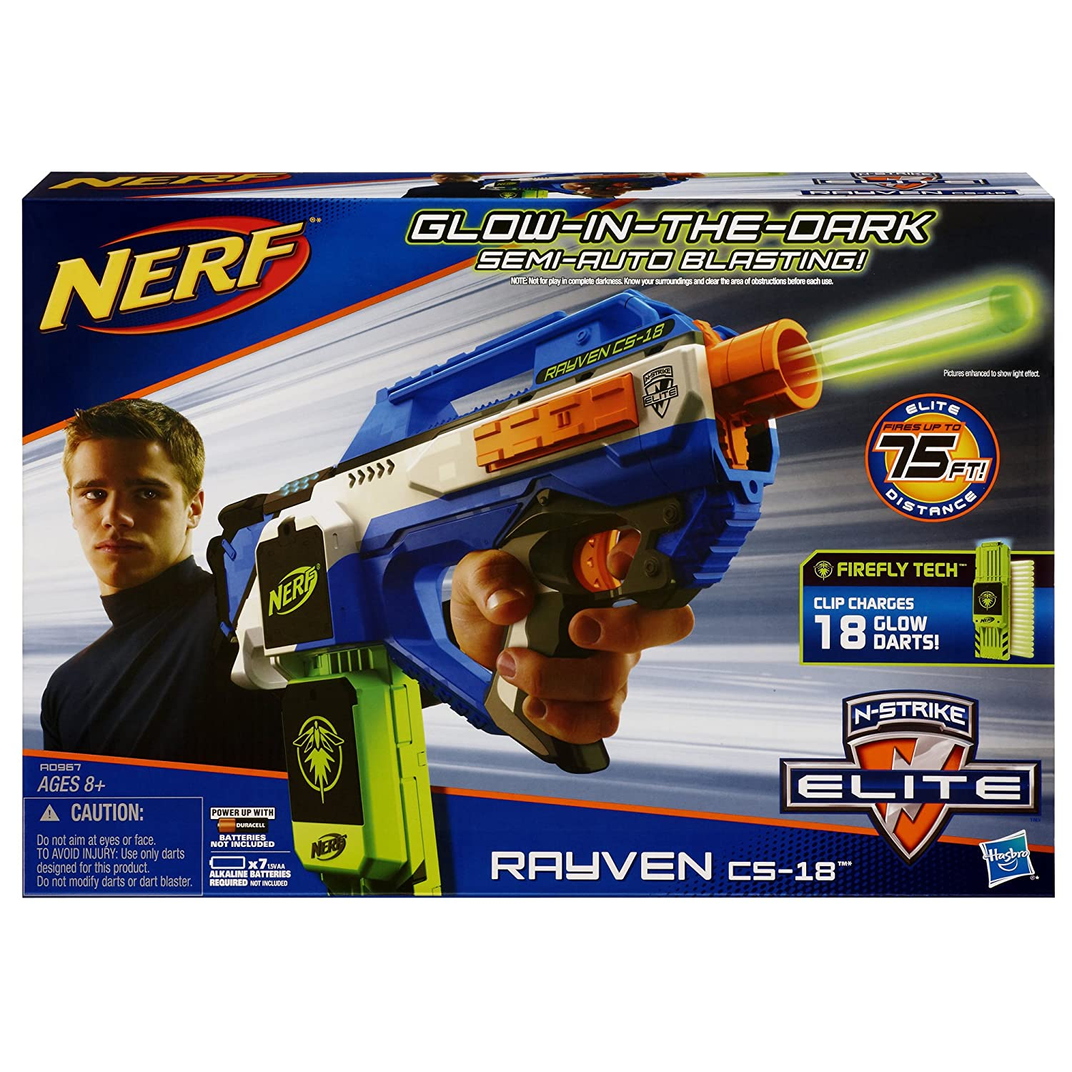 Amazon Nerf N Strike Elite Rayven Cs 18 Blaster Discontinued by manufacturer Toys & Games