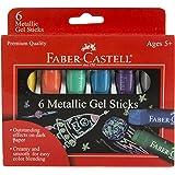 Faber-Castell Metallic Gel Sticks 6ct