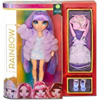 MGA Entertainment Rainbow Surprise Rainbow High Violet Willow – Purple Fashion Doll with 2 Outfits