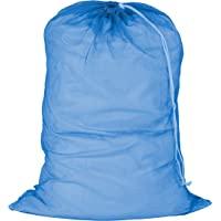 Honey-Can-Do LBG-01161 Saco de roupa de malha com cordão, azul, 61 cm C x 91 cm A