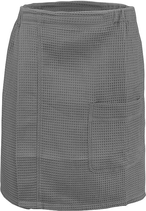Leisureland Men s Gym Spa Waffle Wrap Gray at Amazon Men s Clothing ... f9ef7549d