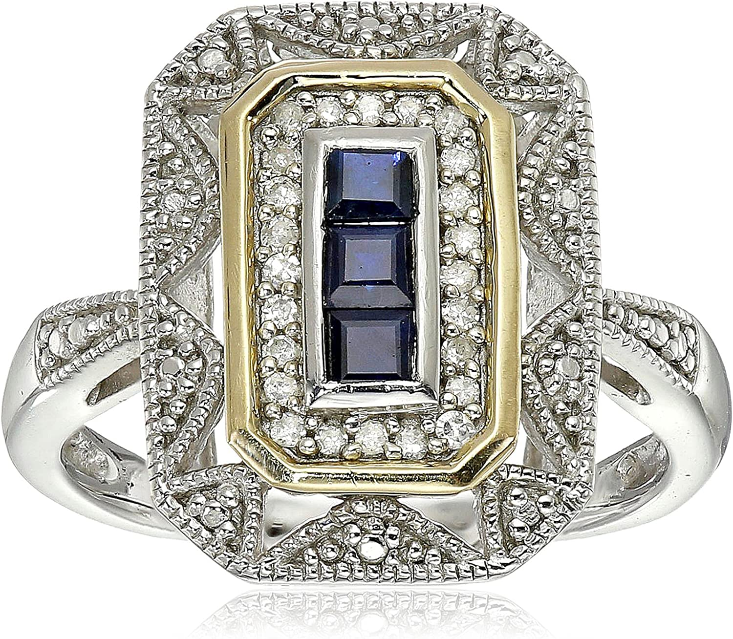 Belle 5 x 7 mm Diffusion Sapphire Sterling 925 Silver Ring Jewelry US 3-13