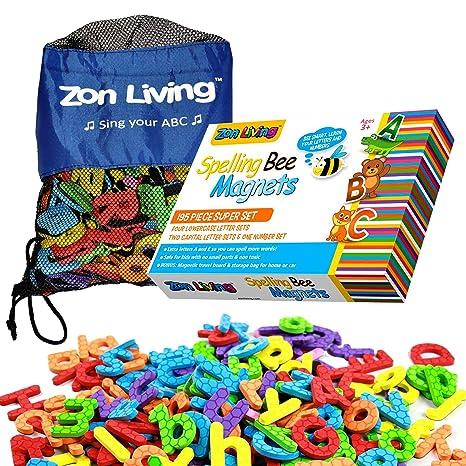 Letras magnéticas y números para niños pequeños - 195 letras ...