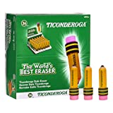 TICONDEROGA Erasers, Pencil Shaped, Yellow, 36-Pack
