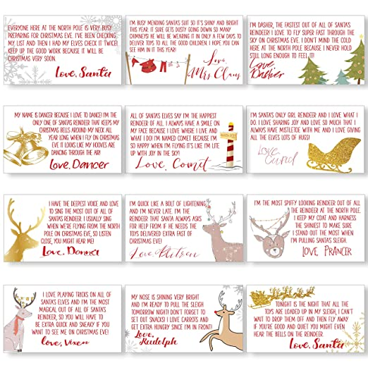 Tiny Letters from The North Pole - Christmas Letters - Christmas Countdown