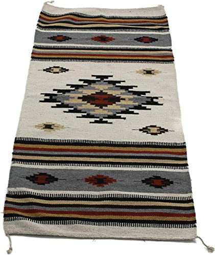 Onyx Arrow Southwest D cor Area Rug, 32 x 64 Inches, Center Diamond, Cream Black Multi