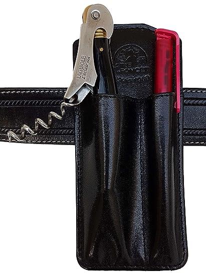 CLAIRE-FONCET Estuche, Funda de cinturón: para llevar Abrebotellas / Bolígrafo o Funda para Sacacorchos y Bolígrafo, Camarero, Camarera, Especial para ...