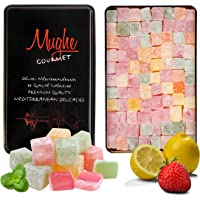 Turkish Delight Assortment Luxurious Selection of Rose, Strawberry, Lemon, Orange and Mint Flavour, Mughe Gourmet Lokum…