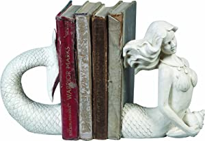 Creative Co-op Mermaid Shaped Resin Bookends (Set of 2 Pieces)