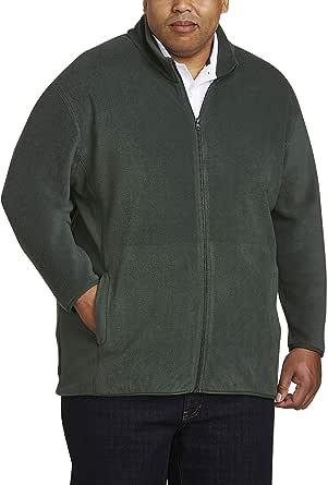 Amazon Essentials Men's Big and Tall Full-Zip Polar Fleece Jacket fit by DXL