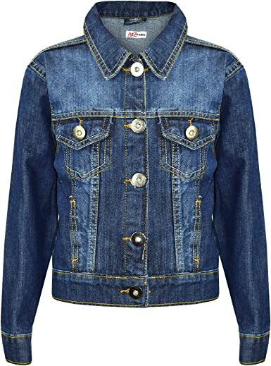 Toddler Kids Boys Ripped Distressed Denim Jacket  Fashion Jeans Coat Tops