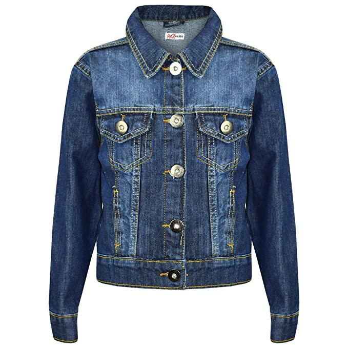 60f9fe930283 Kids Boys Jacket Denim Style Fashion Jeans Coat - Boys Denim Jacket Blue 3-4