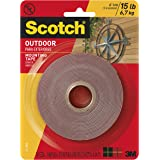 Scotch Outdoor Mounting Tape, 1-inch x 175-inches, Gray, 1-Roll (411-MEDIUM)