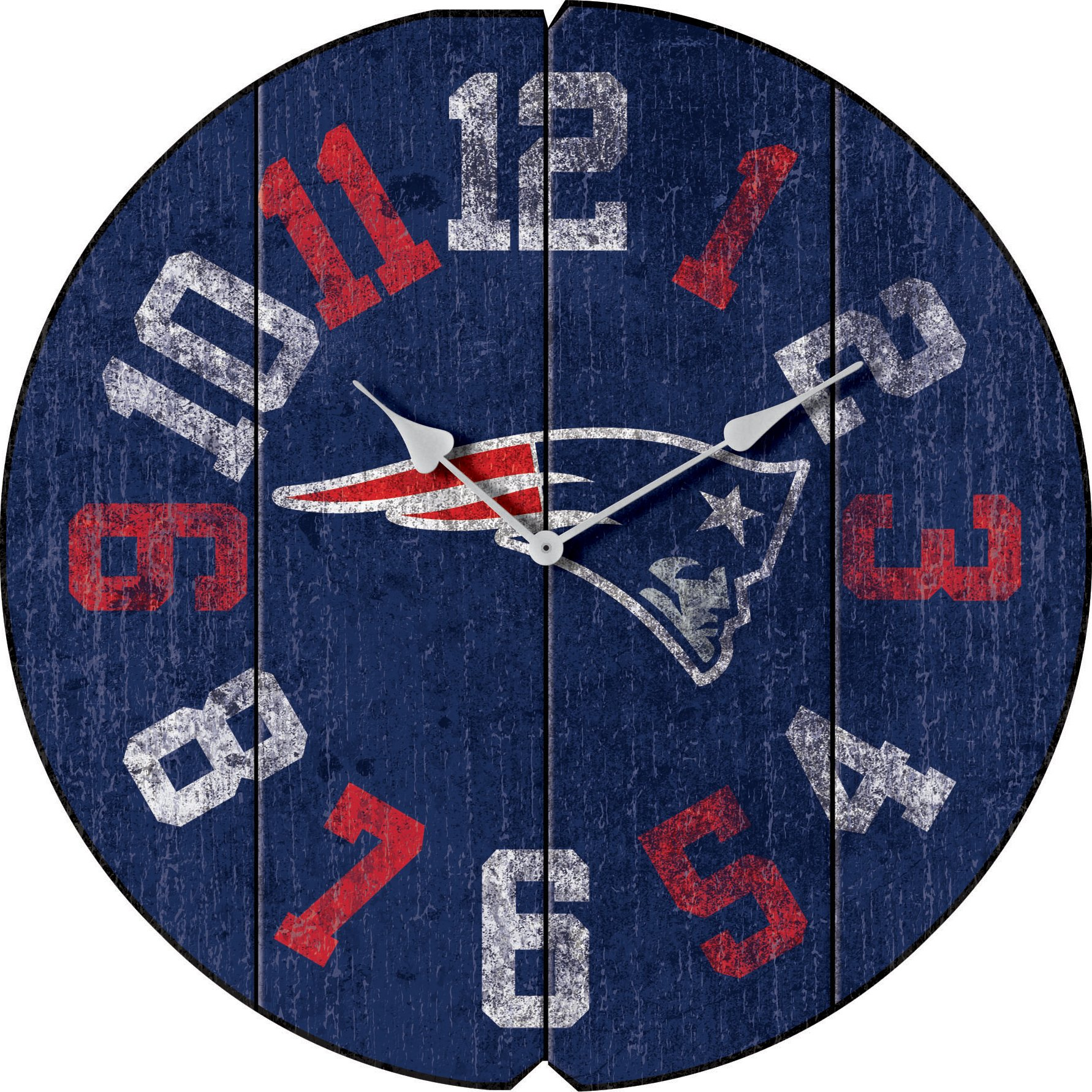 Imperial Officially Licensed NFL Merchandise: Vintage Round Clock, New England Patriots by Imperial