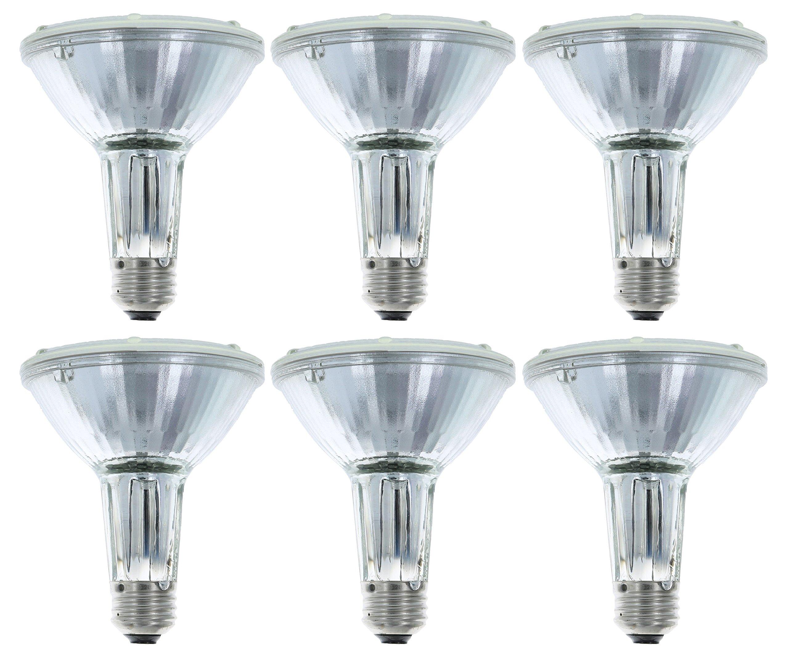 Philips 419549 Halogen PAR30L 75 Watt Equivalent Flood Light Bulb for Recessed Indoor and Outdoor Fixtures, 6 Pack