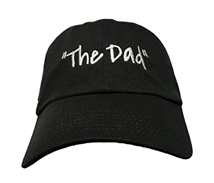 a2db2f80fe6 Amazon.com  The Dad - Black Embroidered Ball Cap  Clothing