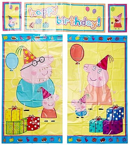 Amazon.com: PEPPA PIG Scene Setter Happy Birthday Party Wall ...