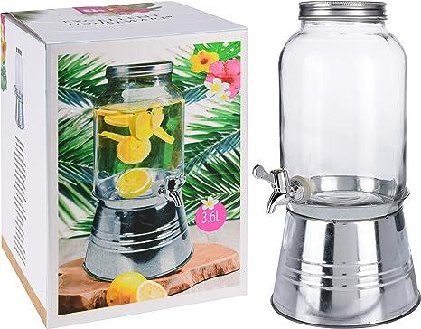 3.6lt cristal bebida bebidas jarra de agua dispensador de servir con grifo y soporte de