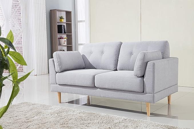 Amazon.com: Sofá de tela de lino con empuje adicional ...