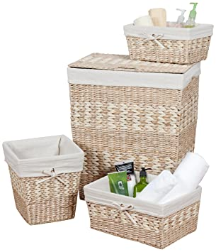 CreativeWare Arcadia 4 Piece Hamper/Storage Set